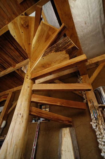 Installing the Spiral Stairs
