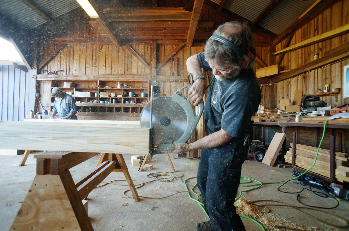 The Tools Come Out: Cutting Timber Frame Joinery | The Year of Mud
