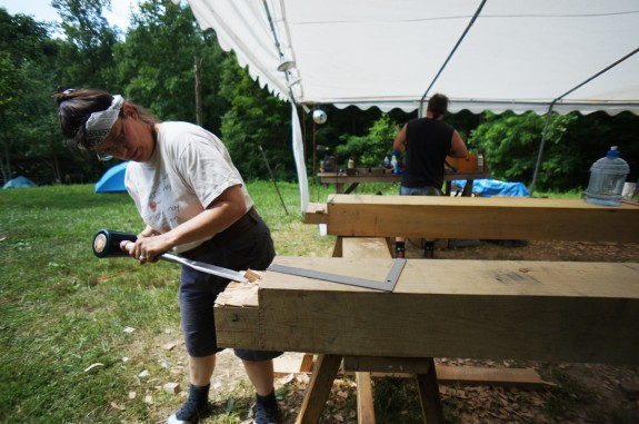 Cutting a Tenon with Chisel and Mallet
