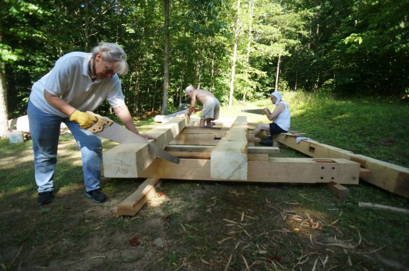 Sawing Timbers by Hand
