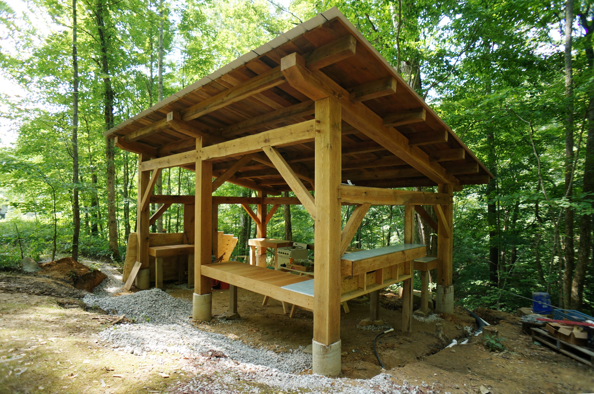 Timber Frame Pavilion Wrapped Up | The Year of Mud