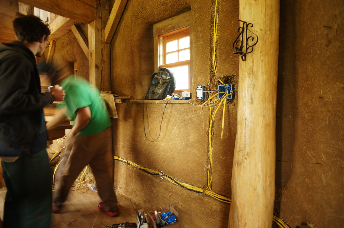 Peachy Electrical Wiring In A Straw Bale House The Year Of Mud Wiring Digital Resources Jebrpcompassionincorg