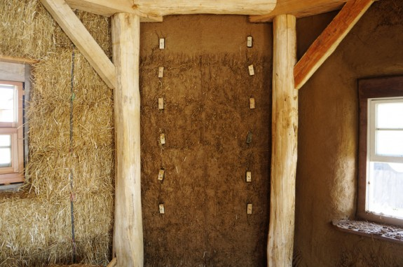 Installing Shelves in a Straw Bale House