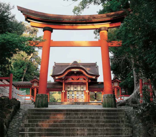 Shinto gate usa jingu