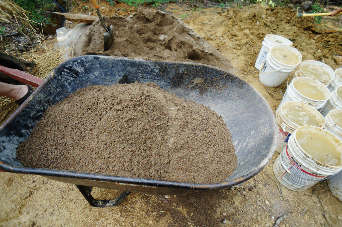 Building with cob how to mix a batch of cob the year of mud sharp sand fandeluxe Image collections