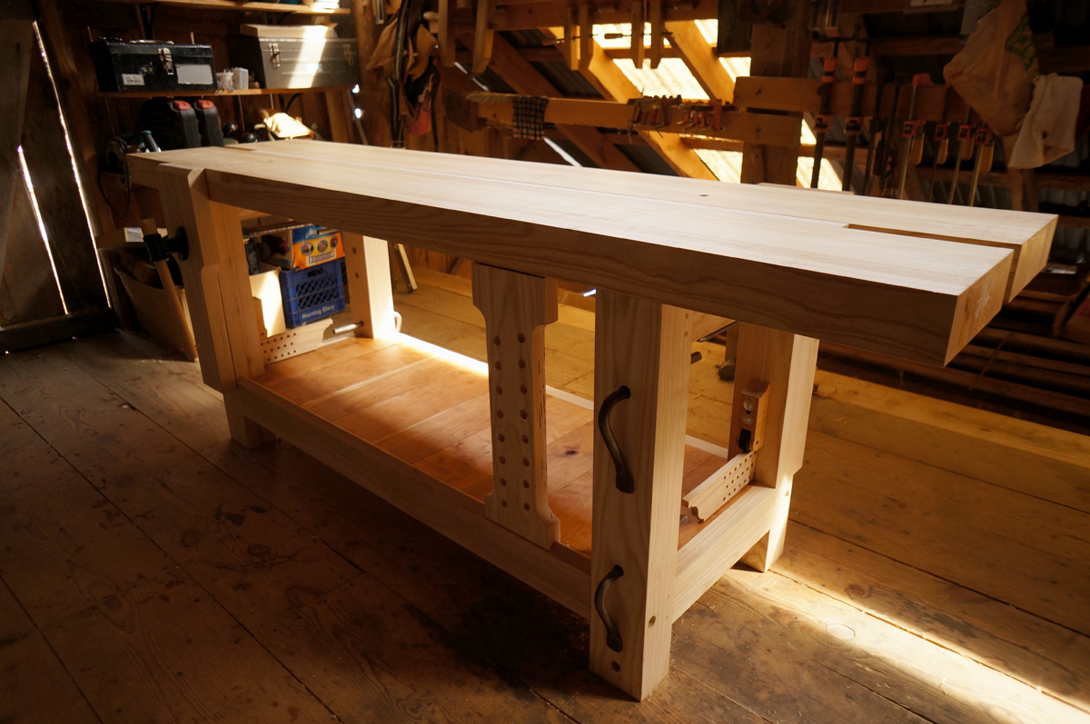 Finished Ash Split-Top Roubo Workbench   The Year of Mud on north carolina house plans, country style house plans, frame a small house plans, idaho house plans, luxury 3 bedroom house plans, story house plans, straw bale house plans, small timber frame house plans, hobbit house plans, louisiana style house plans, indoor pool house plans,