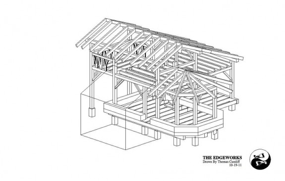 Timber frame house the year of mud Timber frame house kits for sale