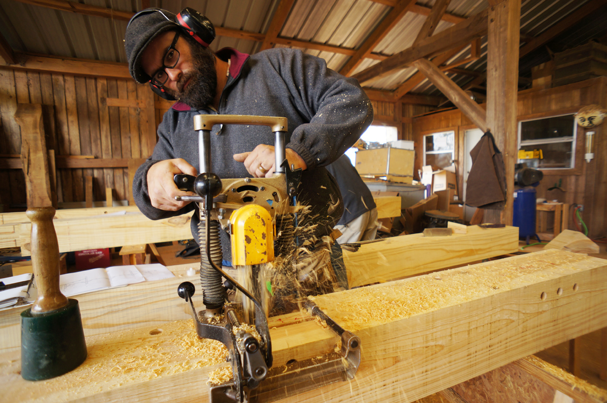 The Tools Come Out Cutting Timber Frame Joinery The
