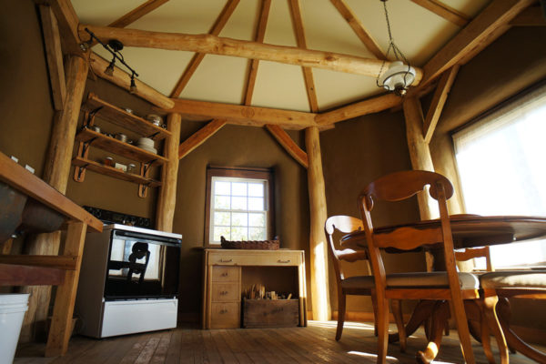 Straw Bale House Interior 01