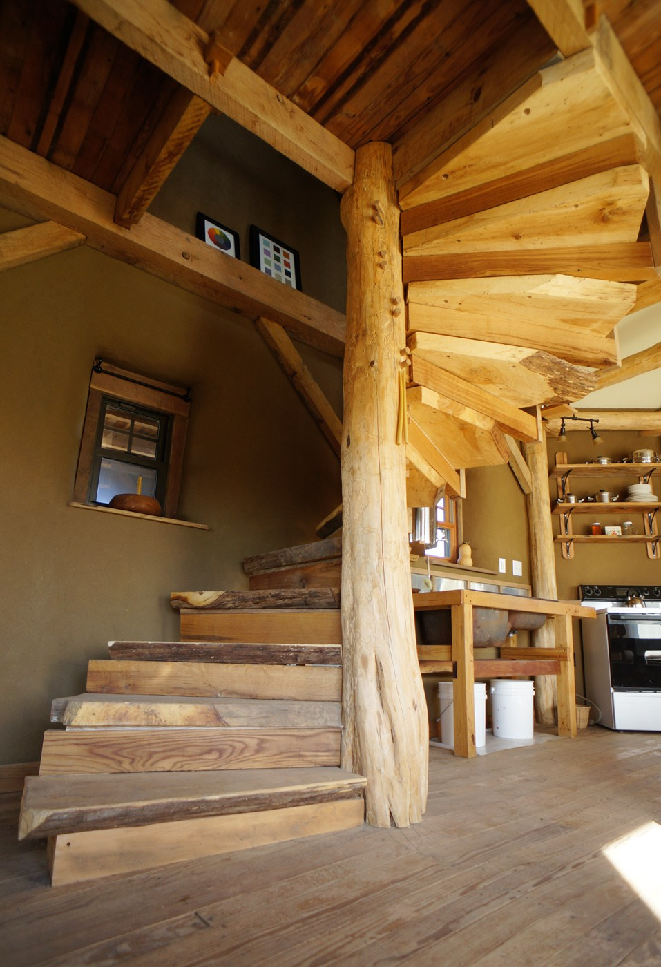 Diy Wooden Spiral Staircase Design How We Built It The Year Of Mud