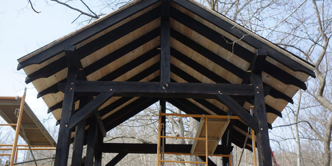 Building The Timber Frame Wood Shed | The Year of Mud